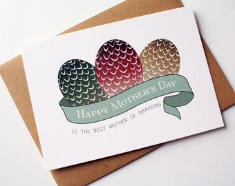 Game of Thrones Mothers Day Card Happy Birthday card Mom - Mother of Dragons
