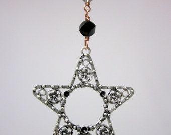 SALE...Star Pentagram Beaded Hanging Mobile Sun Catcher Home Garden Decor