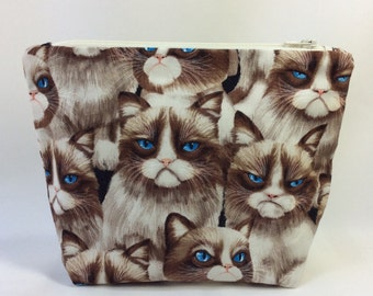 POUCH- Grumpy Cat ***Handmade** **Made to Order***