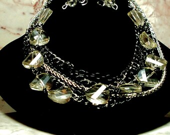 Midnight Moonlight Necklace and Earring Set