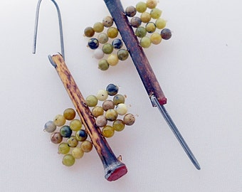 Bamboo Sticks Assemblage Earrings