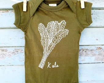 Kale Infant Onesie, Fall Gifts for Babies & Kids, Autumn Baby clothing,  Baby Shower Gift, Eat Kale, Baby Bodysuit, Baby gift, Healthy Baby