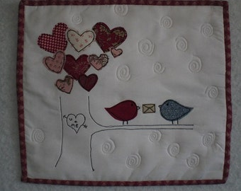 Mini Heart Quilt Wallhanging