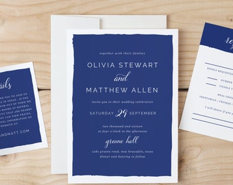 Instant DOWNLOAD Printable Wedding Invitation Template | Signature Color | Word or Pages | MAC or PC | Editable Artwork Colors