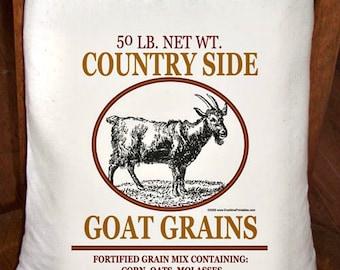 Feed Sack, Flour Sack Bag, Prim Decor, Goat Sack, Country Decor, Muslin Bag, Vintage Feed Sack, Cotton Sack, Country Side Goat Grains