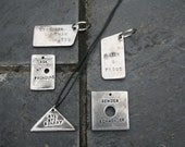 SLOGANS-  Queer Solid Steel Industrial Styled Identity Tag Pendant or Necklace