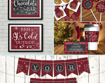 Hot Chocolate Bar Collection - Hot Chocolate Party - Hot Cocoa Party - Holiday Party, Winter Party - INSTANT Download Printable PDFs