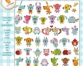 Mini Cute Animals Collection Kawaii Animals Tiny Animals Cross Stitch Pattern PDF Instant Download