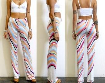 Pucci Pants / Emilio Pucci Psychedelic Pants / 60s 70s Op Art Pants Sz S