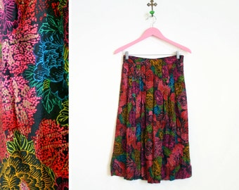 Vintage 1980s Bright and Beautiful Skirt Size M