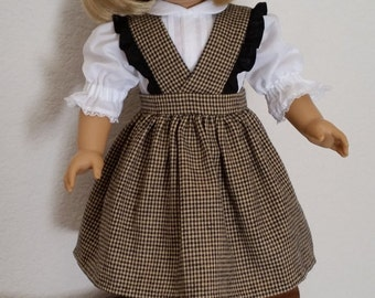 Checked Jumper and Blouse for 18 inch doll