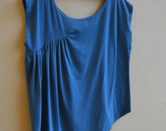 Sale, Medium, Side Drape Top, Bamboo Eco Jersey, modern style, wabi sabi, modern boho- ready to ship