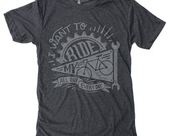 Gift for Cyclist, Mens Cycling Gifts, Bicycling Gift Him - Ride My Bike T-Shirt