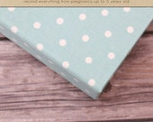 Baby  Book (Pregnancy - 5 Years) - Mint Mini Polka Dot (136 designed journaling pages & personalization included with album)