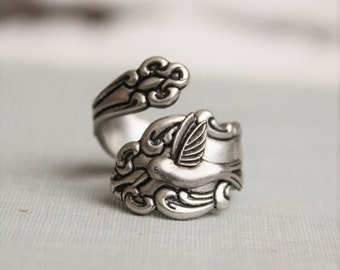 Hummingbird Spoon Ring