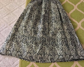 Sale Fabulous Vintage Boho 1960's Black and Gold Lurex Full Evening Skirt Size S-M