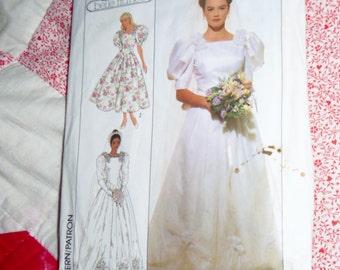Simplicity 9051 Belle France size 8 wedding dress uncut