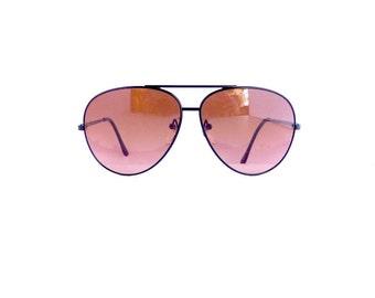80s 90s Serengeti Large Aviators Drivers Sunglasses Frames Unisex 1980's 1990's Black Frames Corning Optics Japan