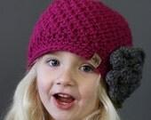 Crochet PATTERN Cumberland Beanie Ladies Crochet Hat Pattern Includes 6 Sizes Newborn to Adult