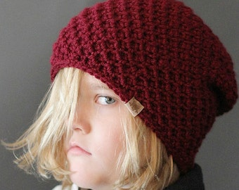 Crochet PATTERN Cumberland Slouchy Crochet Hat Pattern 6 sizes Included
