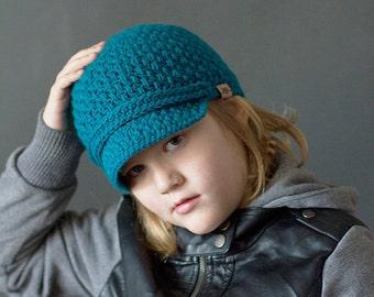 Crochet PATTERN Brighton Newsboy Hat (Baby, Toddler, Child, Women and Mens Sizing) Crochet Newsboy Hat Pattern