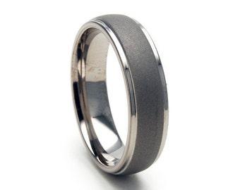 New 6mm Comfort Fit,Titanium Ring-6HRRC-SND