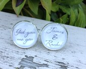 Groom Cufflinks Wedding Cufflinks God Gave Me You Name Personalized Gift for Groom- Custom Cufflinks