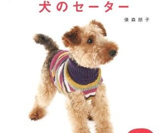 Dog Knit Sweater Patterns, Japanese Knitting Pattern Book, Dog Clothing, Easy Hand Knitting Tutorial, Cute & Comfortable Design, B1692