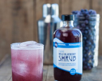 Maine Wild Blueberry Shrub no. 8 | Drinking Vinegar | Cocktail Mixer | Natural Soda | Honey
