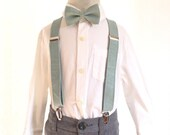 Suspenders - Boys Babies Kids Teen Sizes - Dusty Shale Linen - to match J Crew dresses and BHLDN Sea Glass dresses