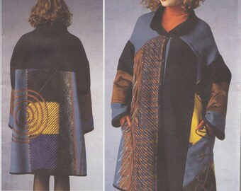 Vogue 1377 / Designer Sewing Pattern by Koos Van Den Akker / Coat / Sizes Extra Small To Medium / Out Of Print