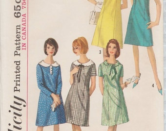 Simplicity 5924 / Vintage 60s Sewing Pattern / Dress / Size 16 Bust 36