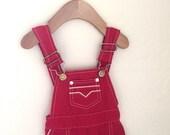Vintage Toddler Shorty Shorts Overalls, size 3T