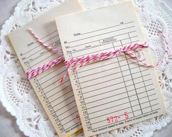 Mini Sales Receipts / Paper Ephemera / Old Receipts
