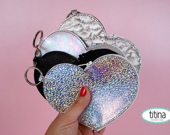 heart coin purse  coin pouch zipper pouch change purse