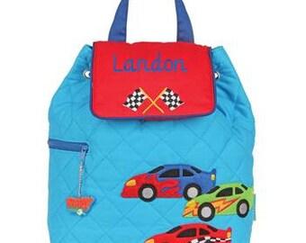 Monogram Personalized Stephen Joseph Racer Toddler Kids Preschool Backpack Tote Easy Ordering
