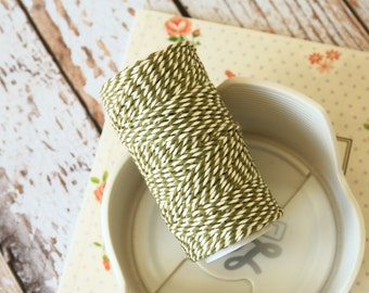 Moss Green Cotton Bakers Twine 20m