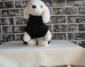 Black fleck dog sweater, xs black dog sweater, sm dog sweater, crochet dog sweater.