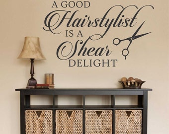 Shear Delight, Hairstylists Decal, Vinyl Wall Lettering, Vinyl Wall Decals, Vinyl Decals, Vinyl Lettering, Wall Decals, Hairdresser Decal