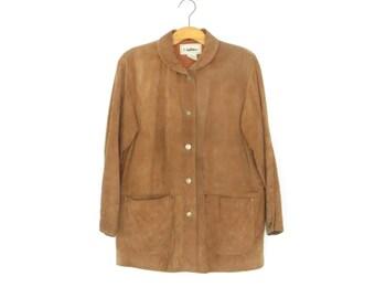 80s Suede Jacket * Women's Leather Coat * Vintage Leather Jacket * size Medium