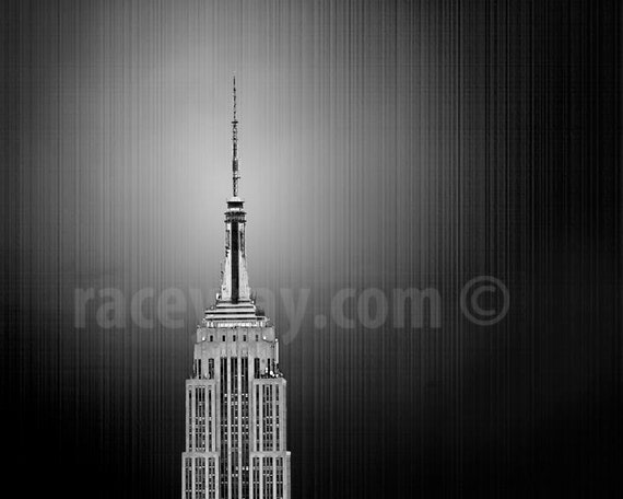New York Photography, Empire State Building, New York City Print, Black and White Photo, Gray, Monochrome