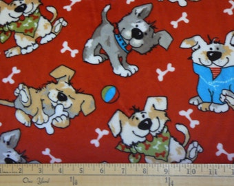 Ruff Ruff Cuddle Minky Fabric by Shannon Fabrics - 1 yard