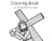 Stations of the Cross Coloring Book [Printable]