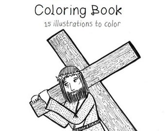 Stations Of The Cross Coloring Book Printable