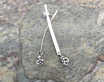 Thai Silver Grape Charm Earrings for Charity. ES19