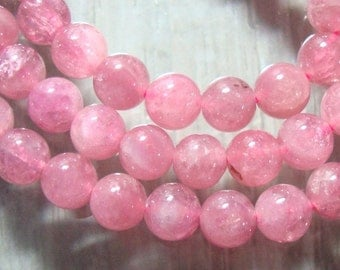 "Pretty pink natural tourmaline smooth round beads, 4.8-5mm, 1/2 Strand, 8"" Inch, 20% sale"