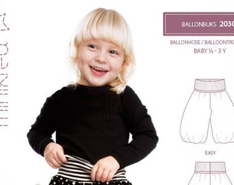Minikrea 20301 Balloon Trousers Sewing Pattern for Baby Dänish Design