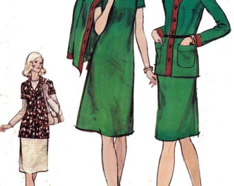 Vogue 8350 Dress & Cardigan Jacket Pattern Size 12 Bust 34 inches