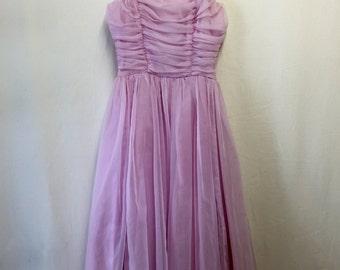 1950's Dusty Rose Tea-Length Party Dress