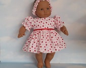 15 inch doll clothes - Valentine Outfit handmade to fit the Bitty Baby doll - FREE SHIPPING